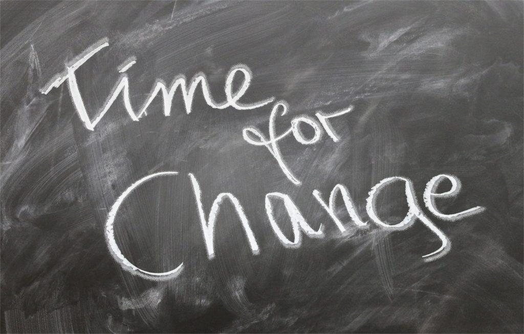 Tableau time for change, symbolisant le compte professionnel de formation.
