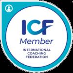 Badge de membre ICF (International Coaching Federation).